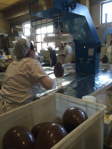 Each egg is inspected and wrapped.