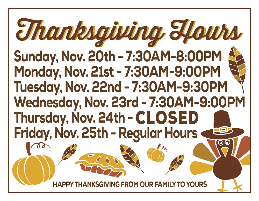 Cub Foods Store Hours Thanksgiving