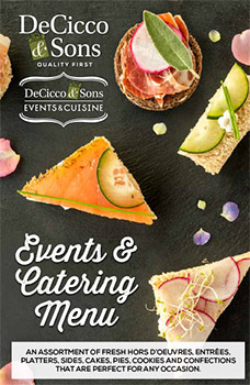 DeCicco & Sons Events and catering menu