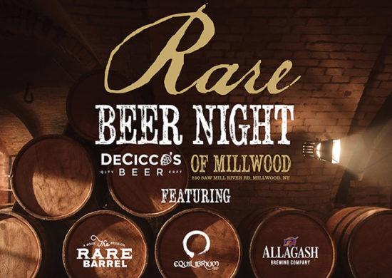 Rare Beer Night Event Poster. Featuring Rare Barrel, Equilibrium, and Allagash