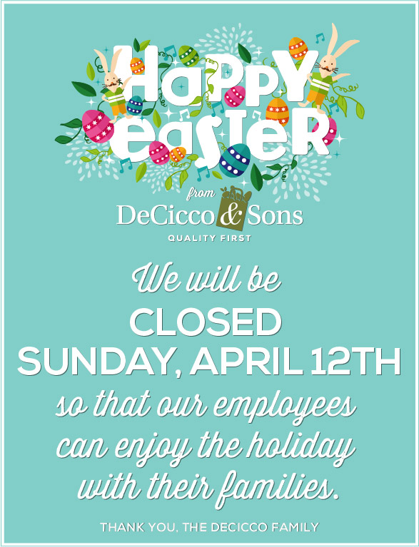 easter sunday closed