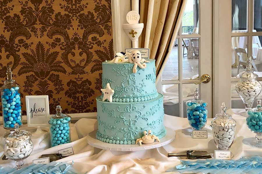 Ocean Themed Cake Display