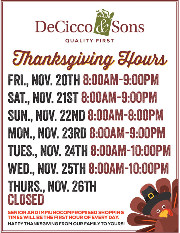 Brewster Store Hours Thanksgiving