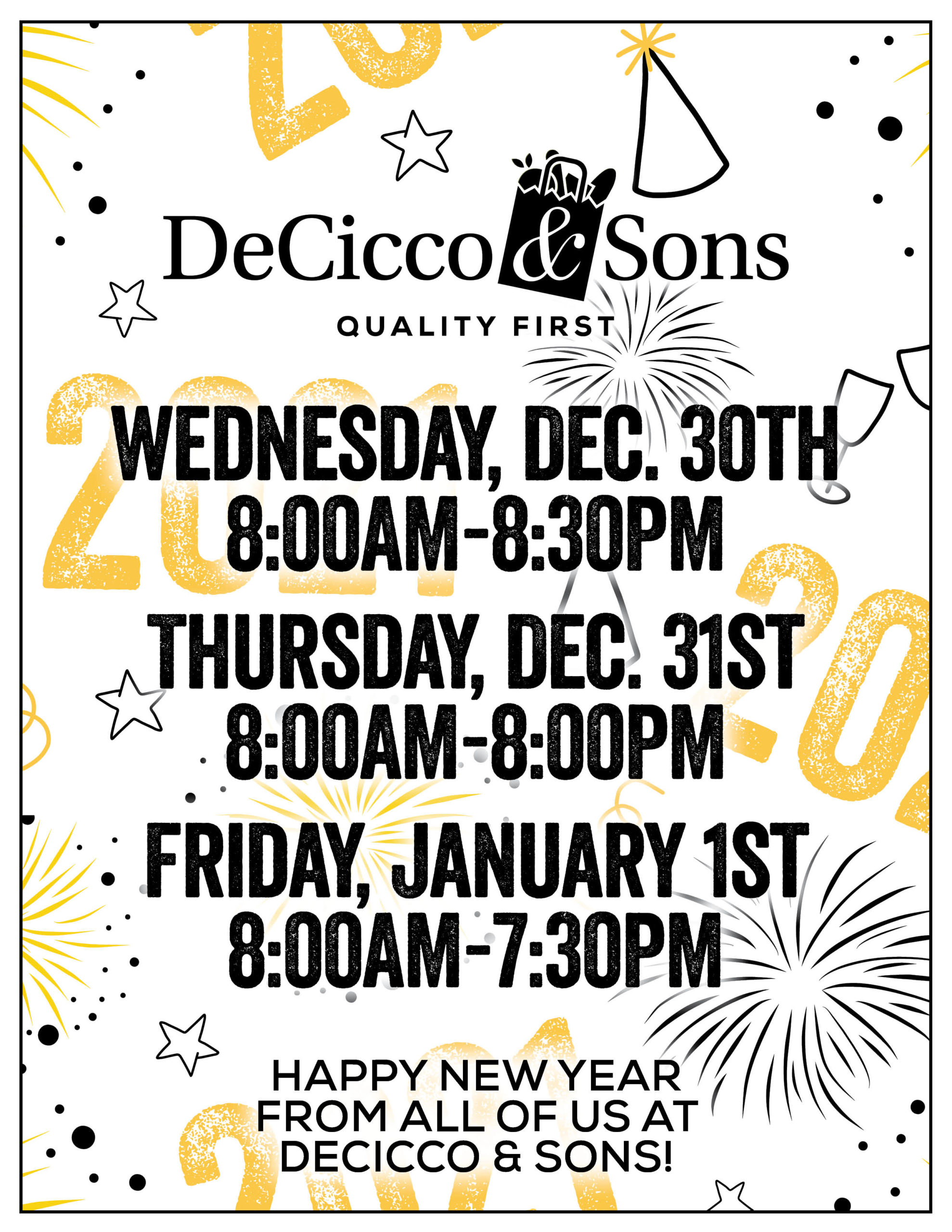 New Years Brewster Store Hours